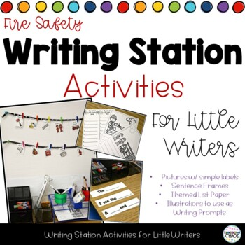 Fire Safety and Prevention Week Writing Station Activities