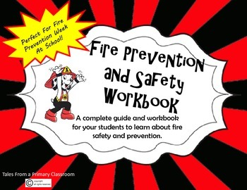 Fire Safety and Prevention Workbook for Students- Fire Prevention Week