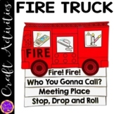 Fire Safety   Fire Truck Craft Activity   Stop Drop and Ro