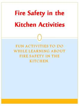Fire Safety in the Kitchen Activities