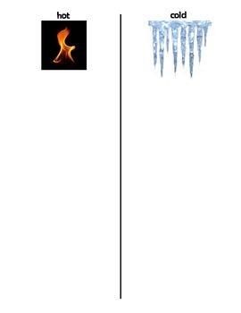 Fire Saftey Hot/Cold Sort