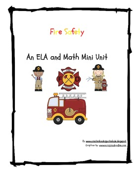 Fire Saftey Math and ELA Activities