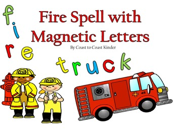 Fire Spell with Magnetic Letters