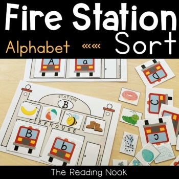 Fire Station Alphabet Match and Initial Sound Sort
