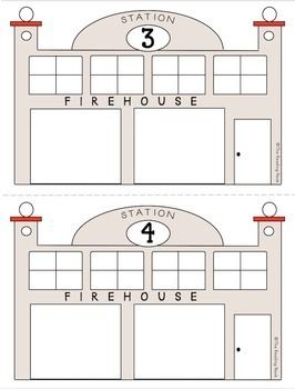 Fire Station Number Sense 1-10