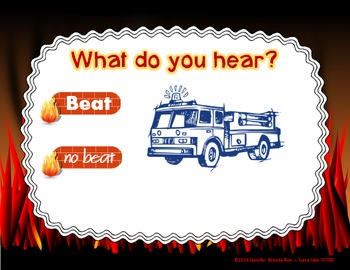 Fire Station Sounds - An interactive game for recognizing beat vs no beat