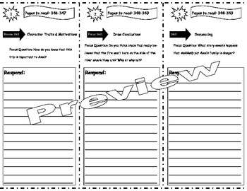 Fire Storm Storytown Comprehension Trifold