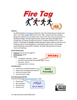 Fire Tag - A serious game about systems and ecosystems