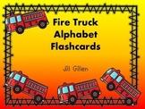 Fire Truck Alphabet Flashcards