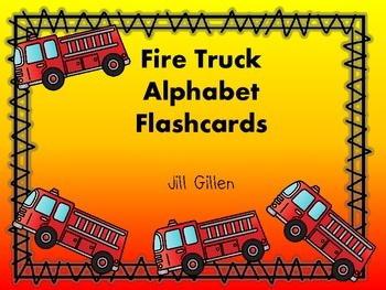 Fire Truck Alphabet Flashcards