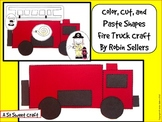 Fire Truck Craft: {A Color Cut and Paste Shapes Fire Truck Craft}