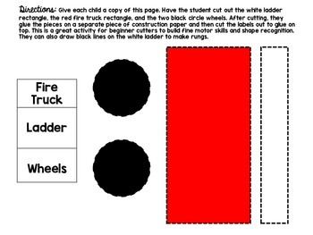 Fire Truck Labeling Activity