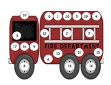 Fire Truck Number Mat to 20