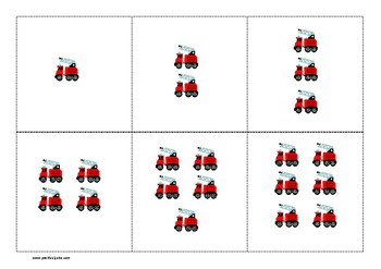 Fire Truck Number Matching Cards - ABA, Special Ed, Early Learning