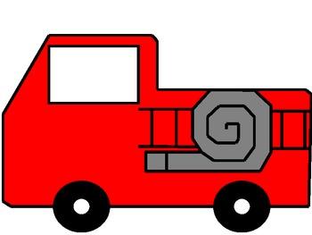 Fire Truck  Writing Book