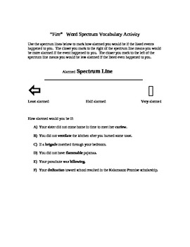 Fire Vocabulary Activities