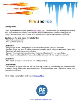 Fire and Ice: A tag game with a throwing element