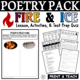 Fire and Ice by Robert Frost Common Core Poetry Test Prep Lesson Quiz Activities