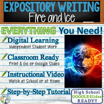 Fire and Ice by Robert Frost -  Text Dependent Analysis Expository Writing