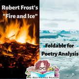 Fire and Ice by Robert Frost foldable for poetry analysis