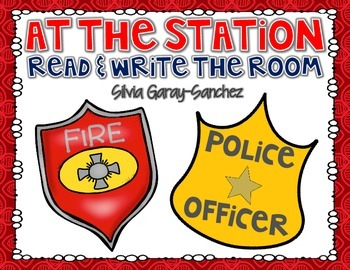 Fire and Police Station Read and Write the Room Center
