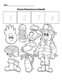 Fire drill cut and paste activity