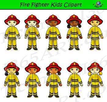 Fire fighter Clipart Kids