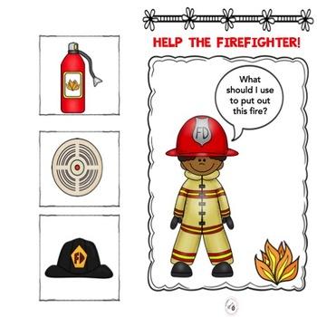 Fire fighter Functions!!  Language activities for Preschool or Kindergarten.