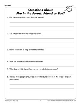 Fire in the Forest: Friend or Foe? (Life Science/Ecosystems)