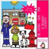 Fire station clip art - Silas - Mini - by Melonheadz Clipart