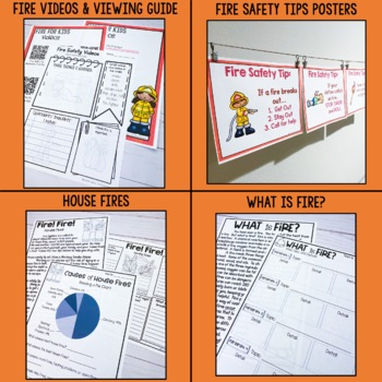 Fire-themed activities for a fire unit, Fire Safety Day, Fire Prevention Week