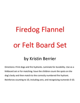 Fire-themed flannel board set for preschool/kindergarten