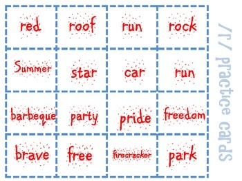 Firecracker! An Independence Day Themed Articulation Game