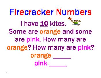 Firecracker Numbers - Decomposing Numbers in Primary Grades