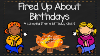 Fired Up About Birthdays ( A Camping Theme Birthday Chart)