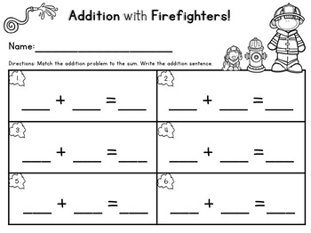 Firefighter Addition Center Numbers 0-10