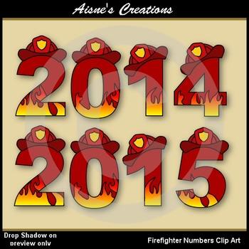 Firefighter Alphabet & Numbers Clip Art
