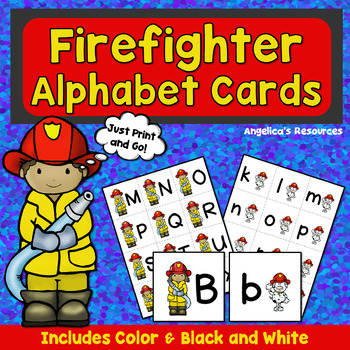 Alphabet: Firefighter Alphabet Cards