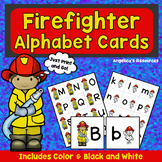 Fire Safety Activities : Firefighter Alphabet Cards - Fire Safety Theme