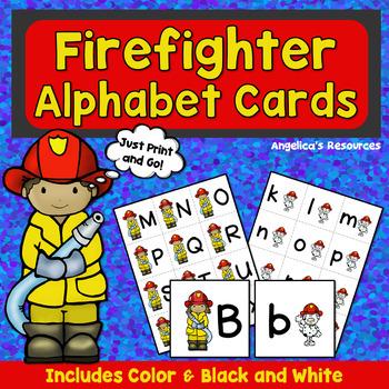 Alphabet: Firefighter Alphabet Cards