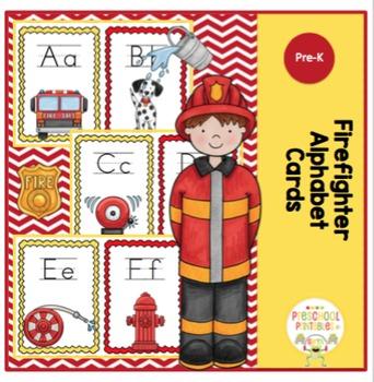 Firefighter Alphabet Cards