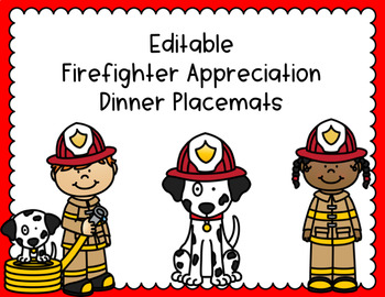 Firefighter Appreciation Placemats
