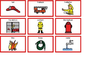 Firefighter Bingo! Single Board [speech therapy and autism]