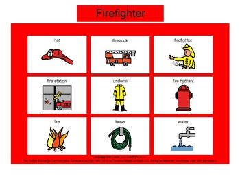 Firefighter Bingo! [speech therapy and autism]