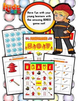 Firefighter Bingo Matching Activities