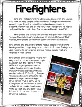 Community Helpers: Firefighter CLOSE READ