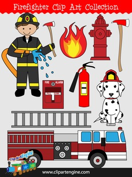 Firefighter Clip Art Collection