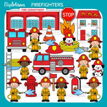 Firefighter Clip Art, Fire Truck
