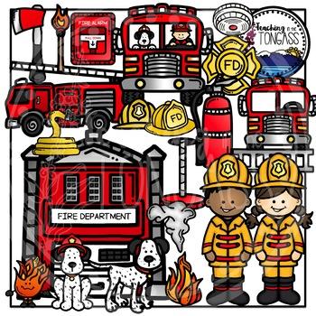 Firefighter Clipart Bundle