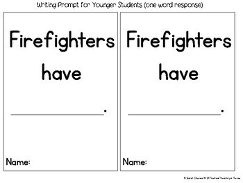 Firefighter Craft with Writing Activity